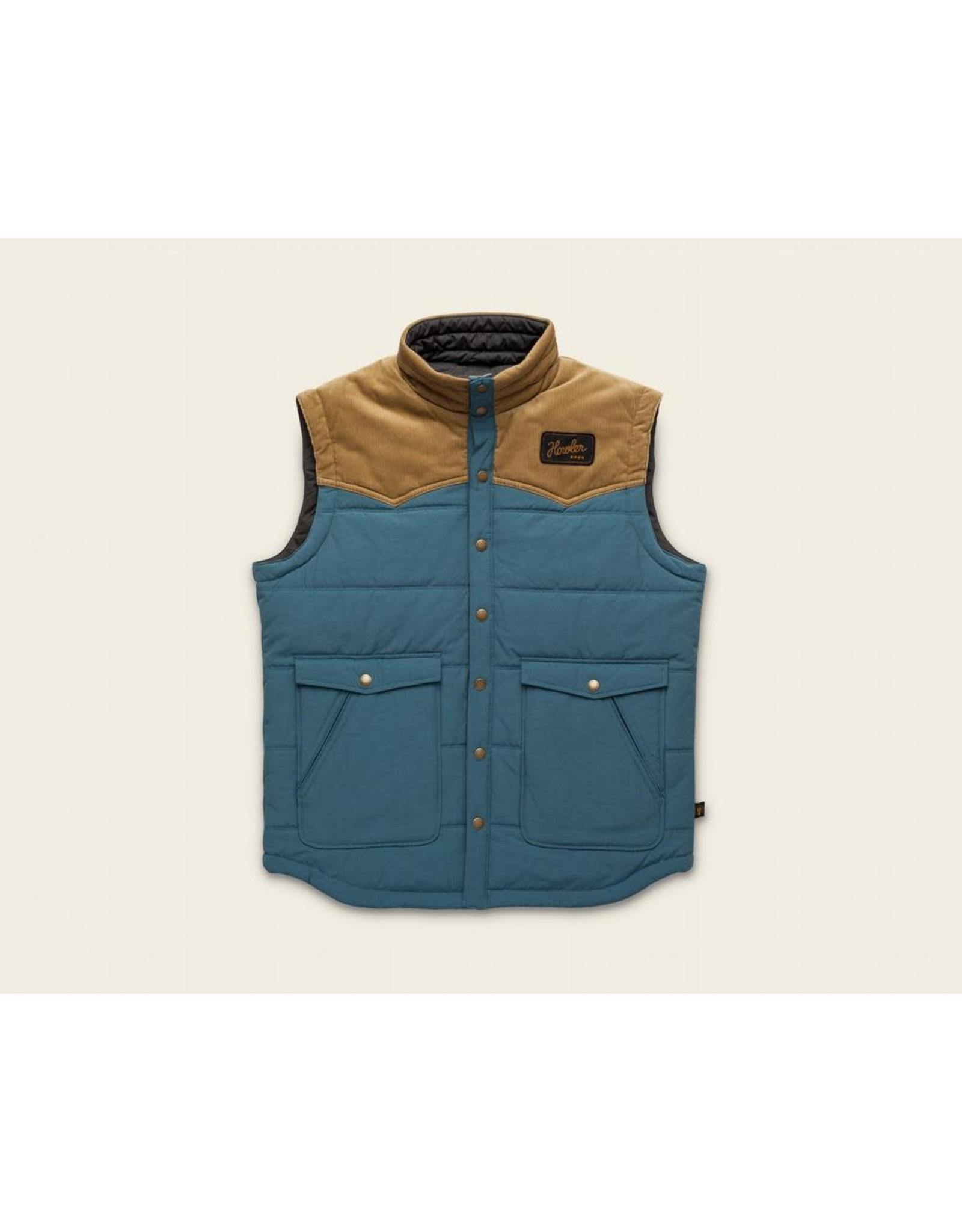 Howler Bros HB Rounder Vest - Mid Blue/British Khaki