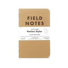Field Notes Original Kraft - 3 Pack Mixed