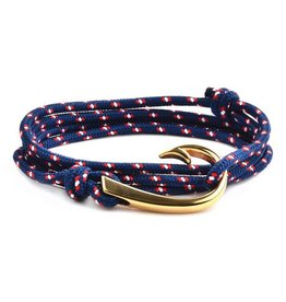 WCJ Rope and Hook Bracelet- Blue