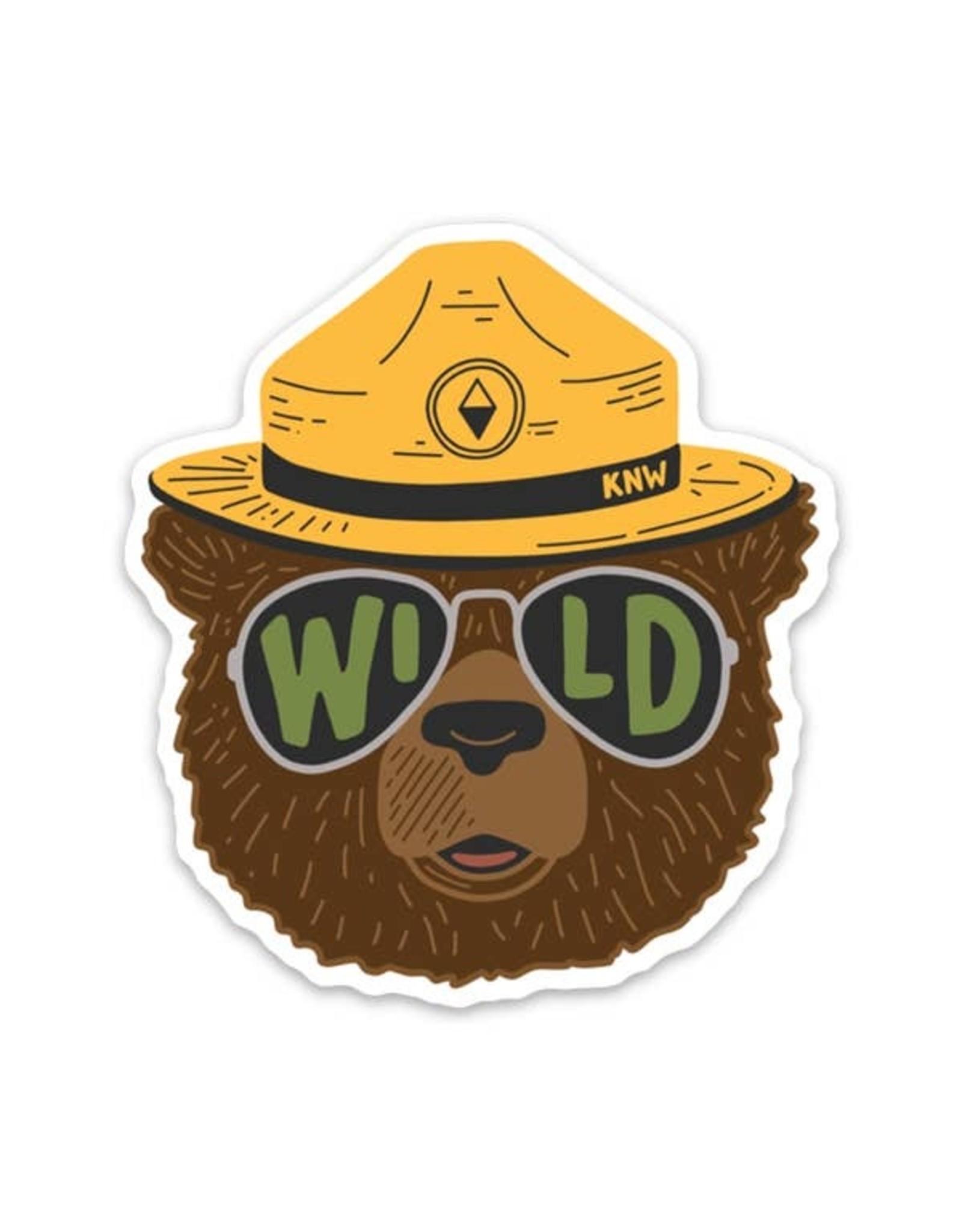 Keep Nature Wild KNW Wildbear Sticker