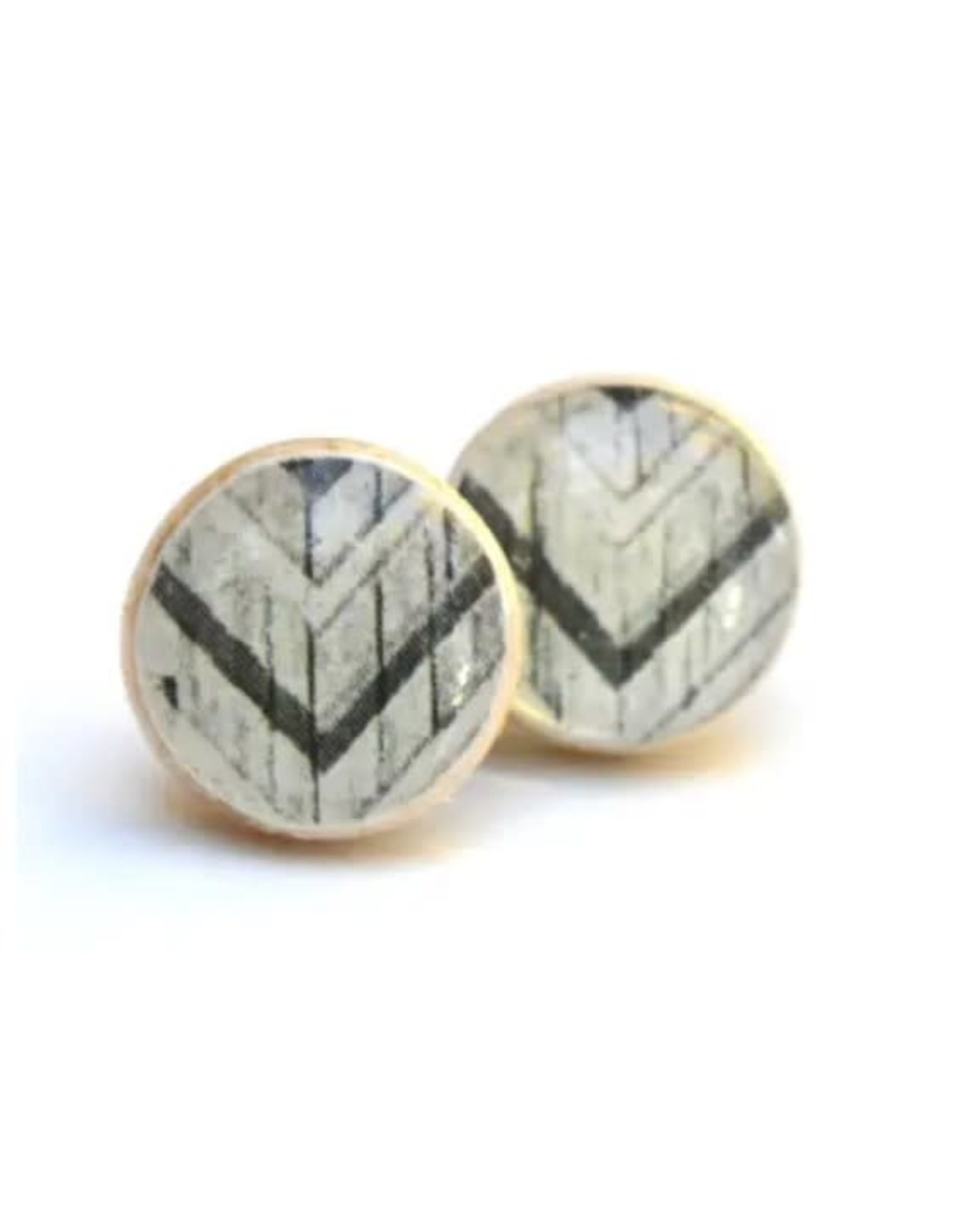 Starlight Woods Studs - Tribal Black & White