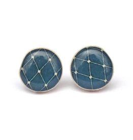 Starlight Woods Studs - Navy Blue