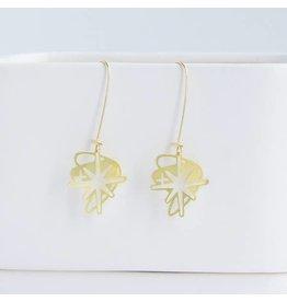 TLJ Retro Starburst Earrings: Gold