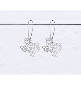 TLJ Texas State Geometric Earrings: Silver