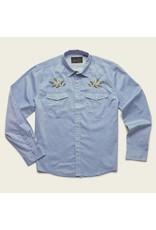 Howler Bros HB Gaucho Snaphirt - Pale Blue Oxford