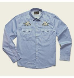 Howler Bros HB Gaucho Snaphirt - Pale Blue Oxford