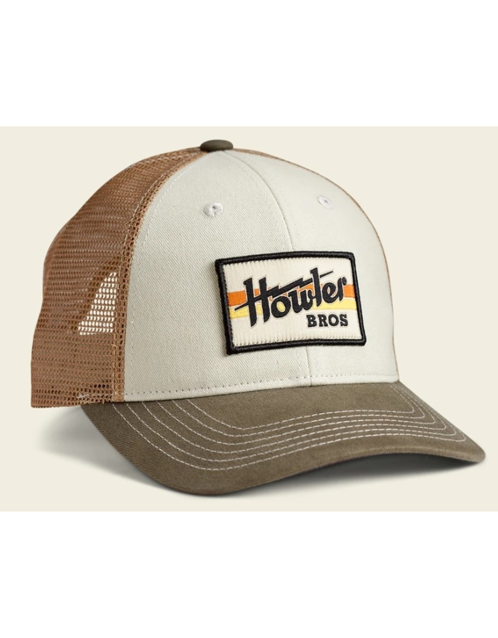 Howler Bros HB Howler Electric Stripe Standard Hat - Stone/Gold/Rifle