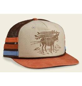 Howler Bros HB Burro Structured Snapback - Khaki/Brown/Rust