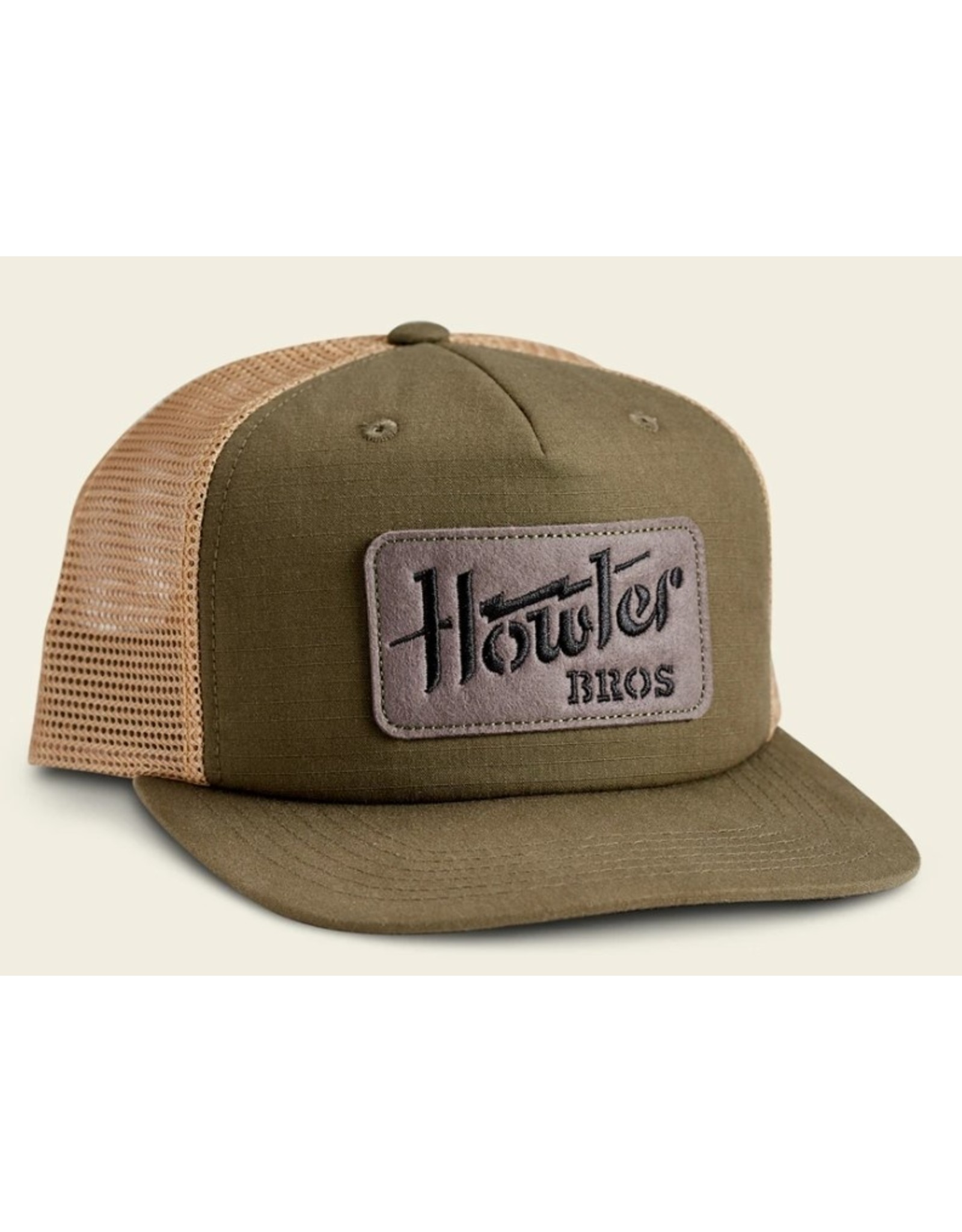 Howler Bros HB Electric Stencil Structured Snapback - Fatigue/Old Gold