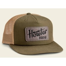 Howler Bros HB Electric Stencil Structured Snapback Hat  - Fatigue/Old Gold
