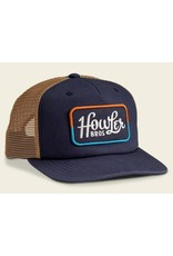 Howler Bros HB Howler Classic Structured Snapback Hat - Navy/Old Gold