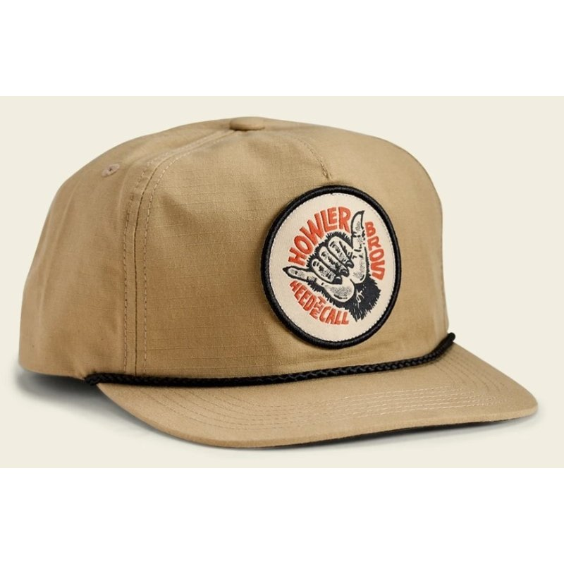 Howler Bros HB Shaka The Monkey Unstructured Snapback Hat  - Khaki