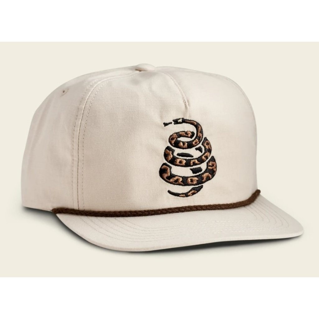Howler Bros Howler Brothers Cottonmouth Unstructured Snapback Hat  - Off White
