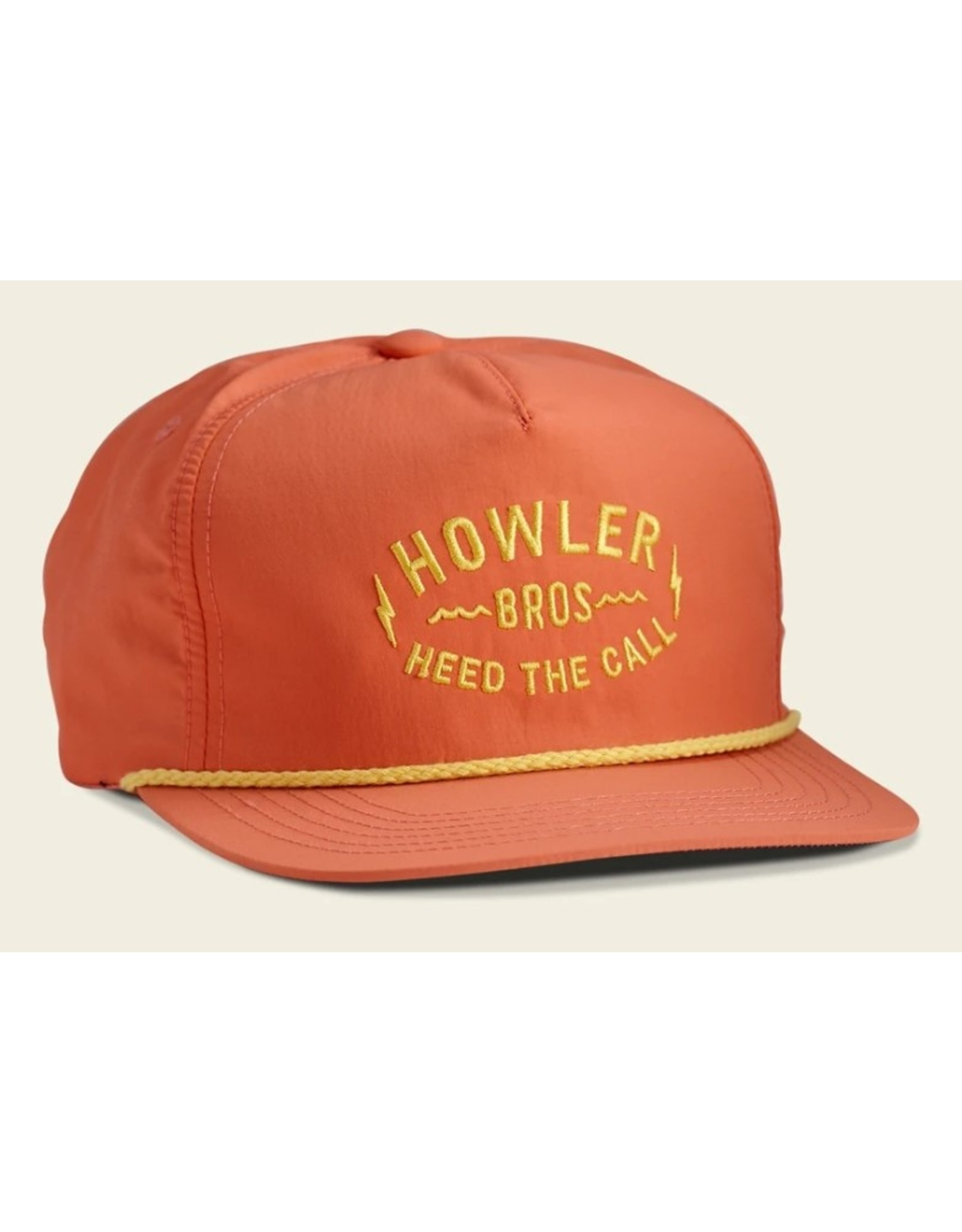 Howler Bros HB Painted Howler Unstructured Snapback Hat  - Coral