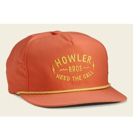Howler Bros HB Painted Howler Unstructured Snapback - Coral