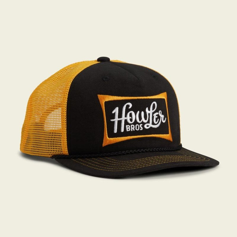 Howler Bros HB Howler Classic Structured Snapback Hat  - Black