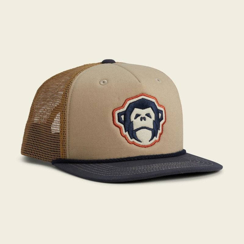 Howler Bros HB El Mono Structured Snapback Hat - Stone/Gold /Navy