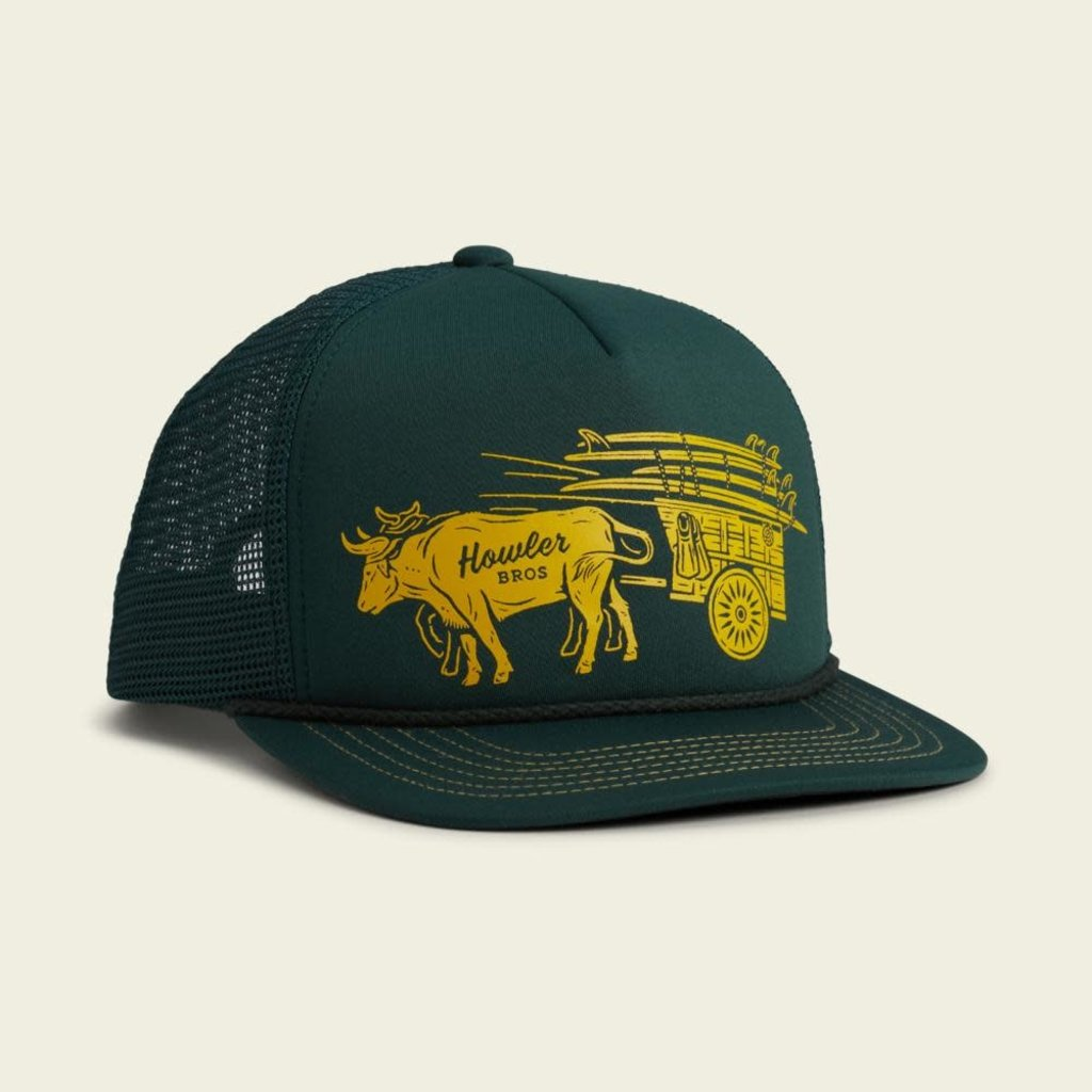 Howler Bros HB Ox Cart Structured Snapback Hat  - Pine Green