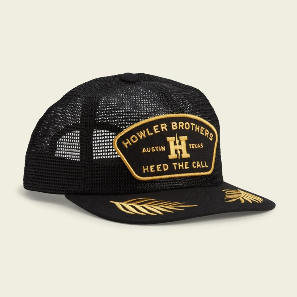 Howler Bros Howler Brothers Feed Store Unstructured Snapback Hat  - Black