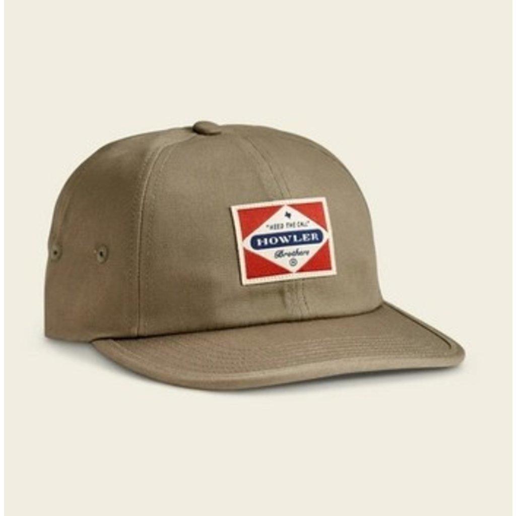 Howler Bros Howler Brothers Posse Badge Strapback Hat  - Olive Green