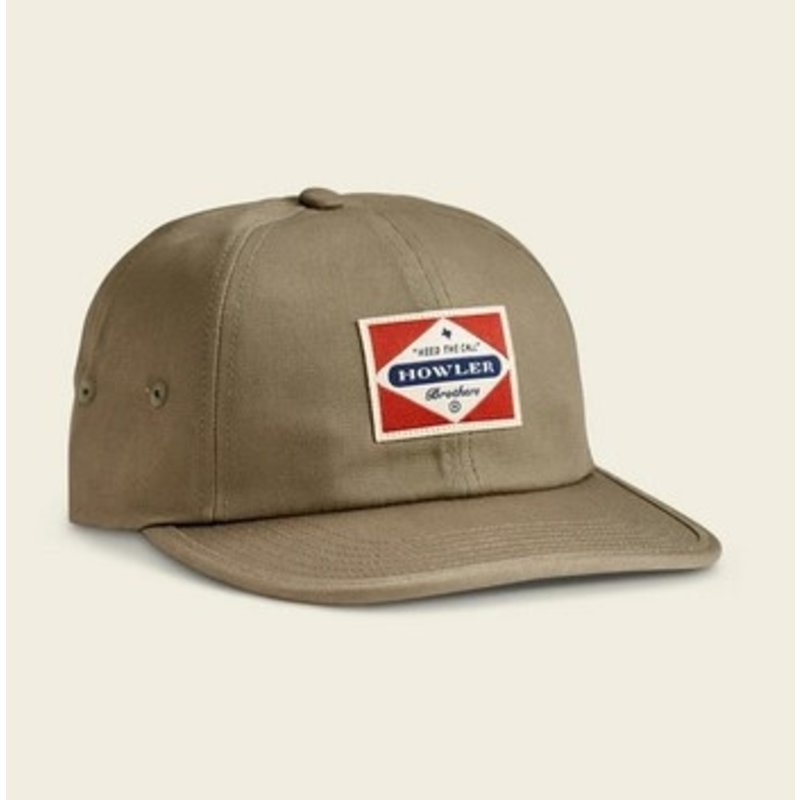 Howler Bros HB Posse Badge Strapback Hat  - Olive Green