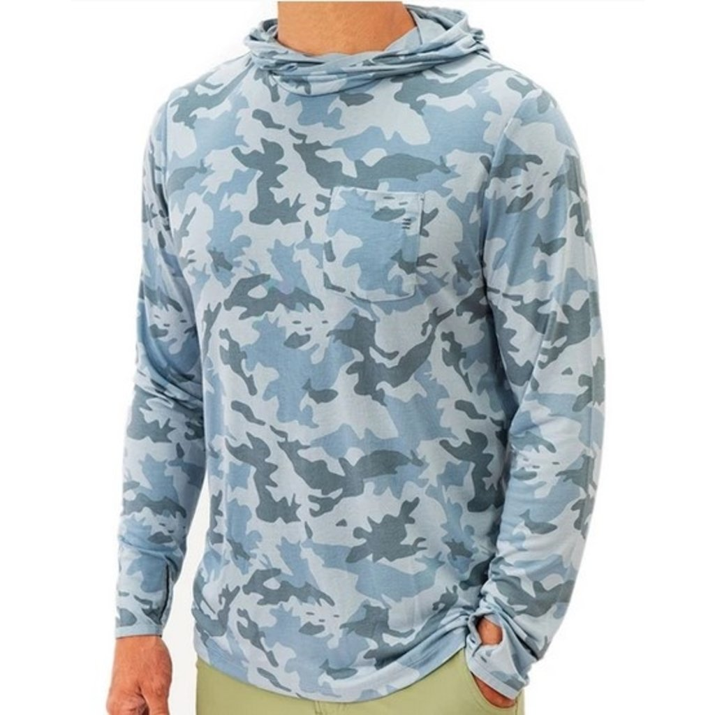 Free Fly Free Fly Mens Lightweight Hoody Water Camo
