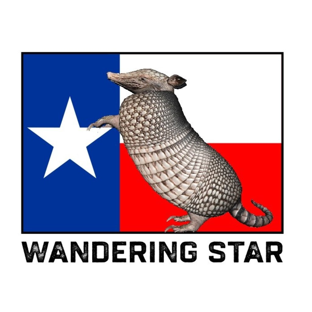 Wandering Star Texas Armadillo Sticker