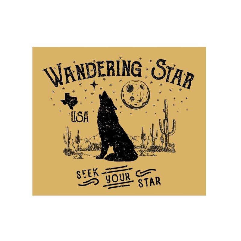 Wandering Star Howling Wolf Sticker