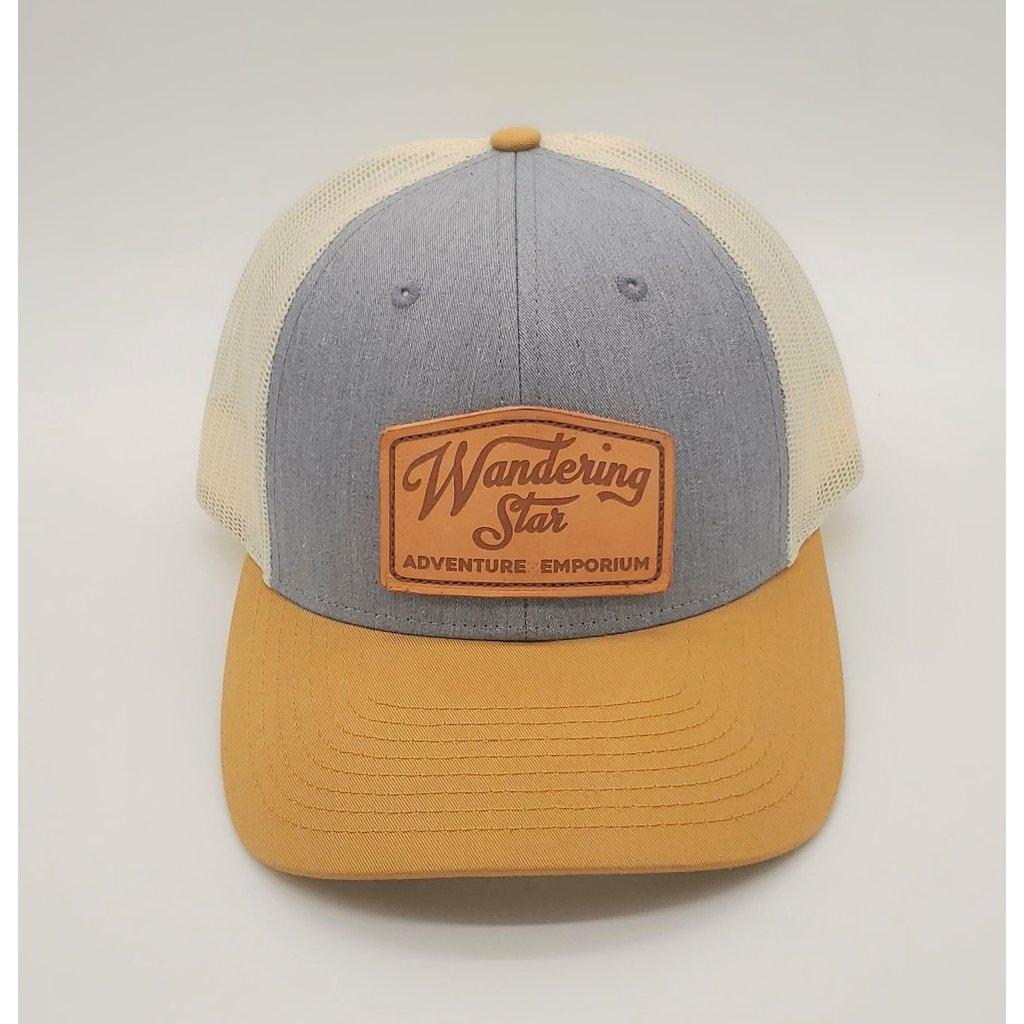 Wandering Star Hat - Heather Gray/Birch w/ Leather Patch