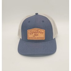 Wandering Star Hat - Navy/Silver w/ Leather Patch