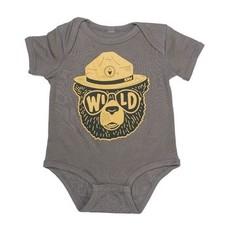 Keep Nature Wild KNW Wild Bear Onesie: Coal 6 Mo.