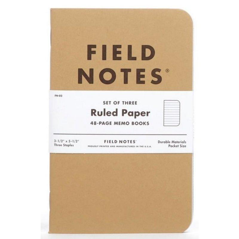 Field Notes Original Kraft - 3 Pack Ruled
