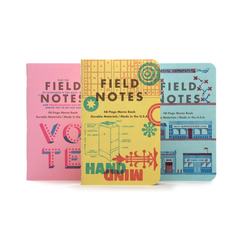 Field Notes Unted States of Letterpress - Pack C  (3)