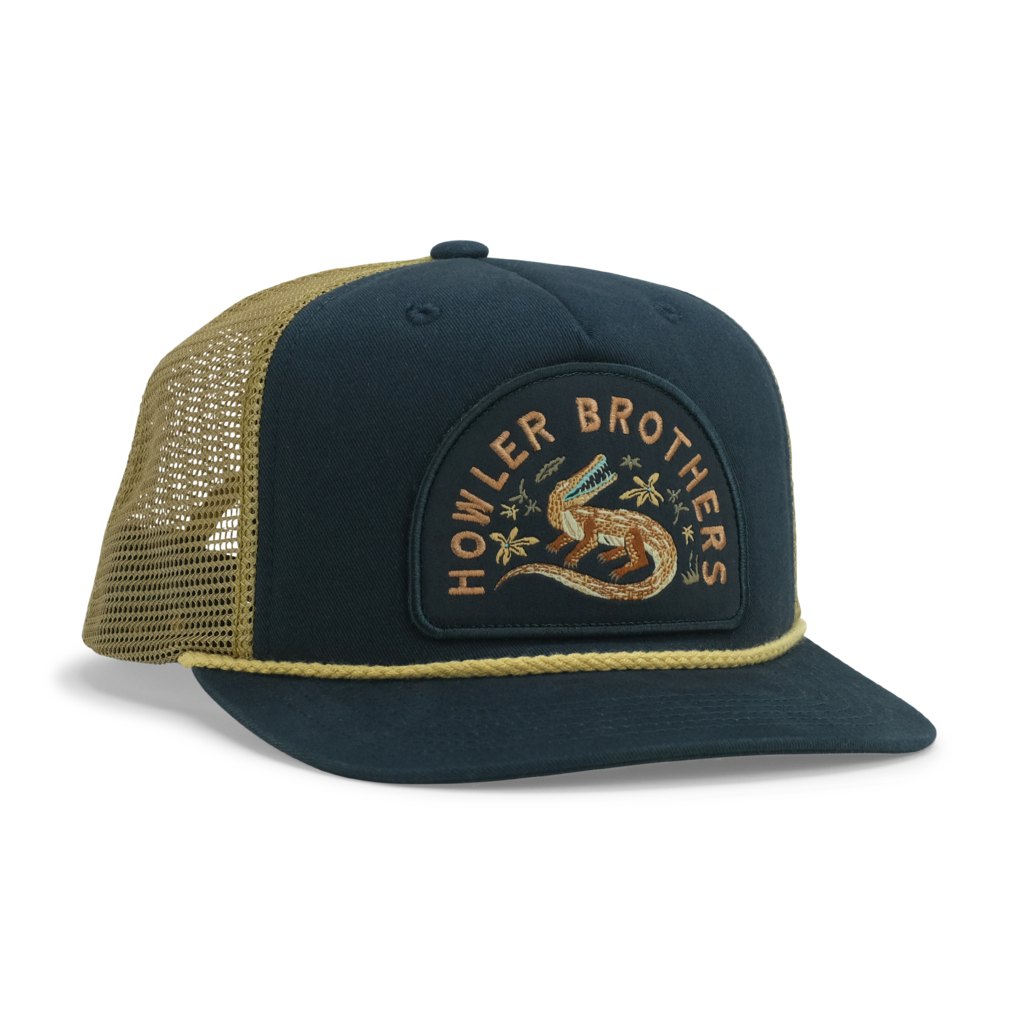 Howler Bros Howler Brothers Structured Snapback- Lazy Gators: Navy