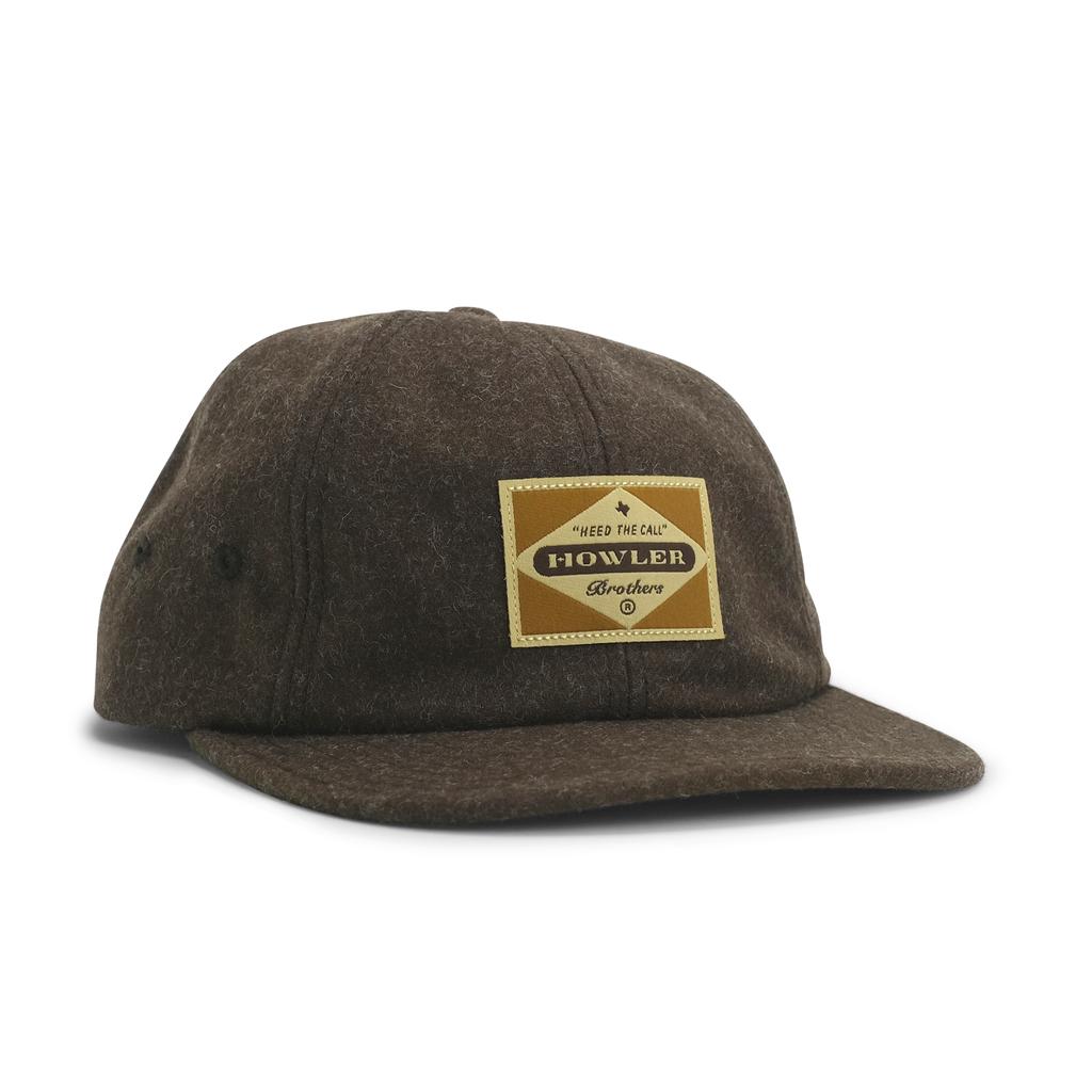 Howler Bros Howler Brothers Strapback- Posse Badge: Brown Flannel