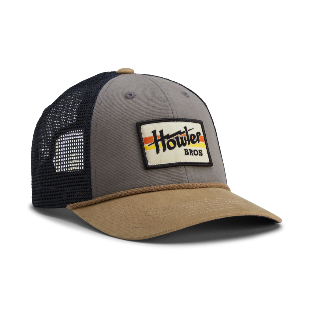 Howler Bros Howler Brothers Standard Hat- Electric Stripe: Grey/Khaki/Navy
