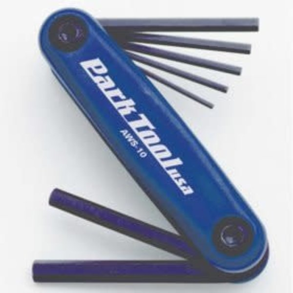 ParkTool Park Tool, AWS-10, Folding hex wrench set, 1.5mm, 2mm, 2.5mm, 3m, 4mm, 5mm and 6mm