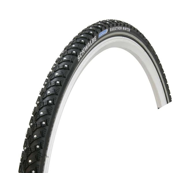 Schwalbe, Marathon Winter Plus, Pneu, 700x35C, Rigide, Tringle, Winter, SmartGuard,