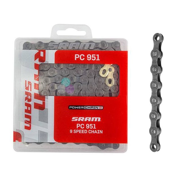 Sram, PC 951, Chaine 9vit., 114 maillons, Powerlink