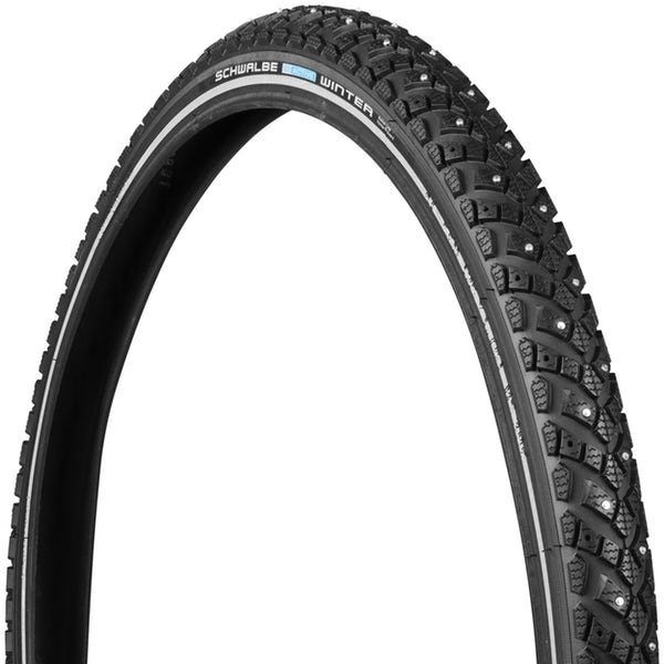 Schwalbe, Pneu Winter, 26x1.75, Wire, Winter, Clincher, KevlarGuard, Studded, Reflex, 50TPI, 30-70PSI, Black