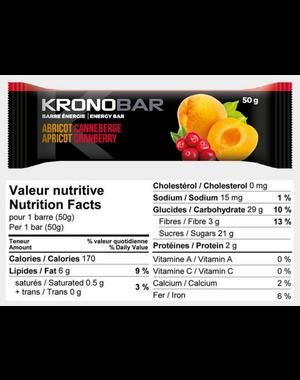 Kronobar KRONOBAR Barre énergétiques abricot/canneberge