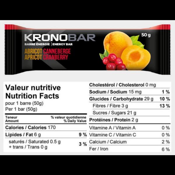 Kronobar KRONOBAR Barre énergétiques abricot/canneberge single