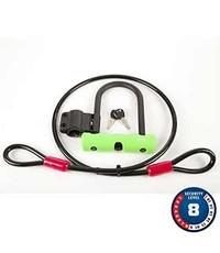 Abus, Ultra Mini + Cobra, U-Lock and cable, 12mm x 150mm x 180mm (12mm x 5.9'' x 7''), 10mm x 120cm (10mm x 4') cable, SH34