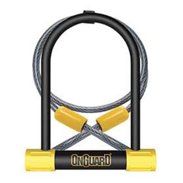OnGuard, cadenas Bulldog DT 8012, U-Lock, 13 mm x 115mm x 230mm / 10mm x 120cm (13mm x 4.5'' x 9'' / 10mm x 4')