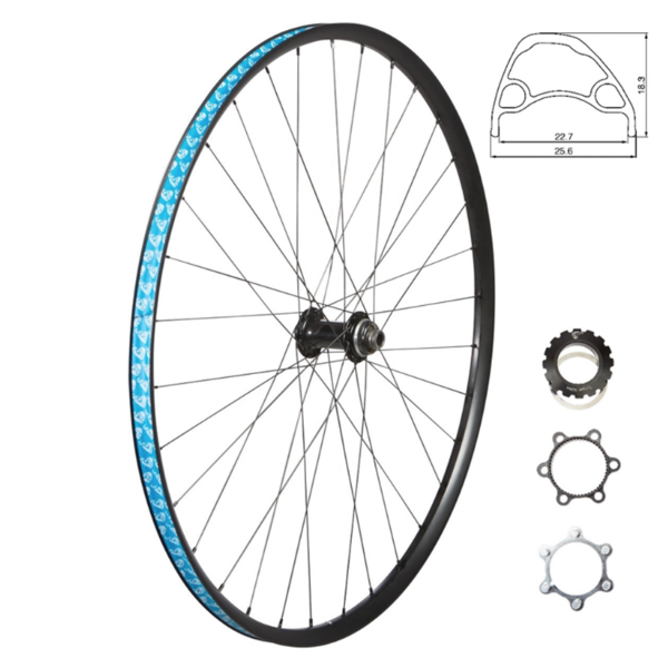 49N - Roue Avant 700c - 100x12mm - Thru-axle - Tubeless compatible