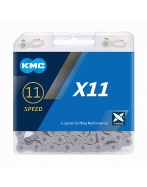 KMC Chaine X11 grey/ 11 vitesses 118 links