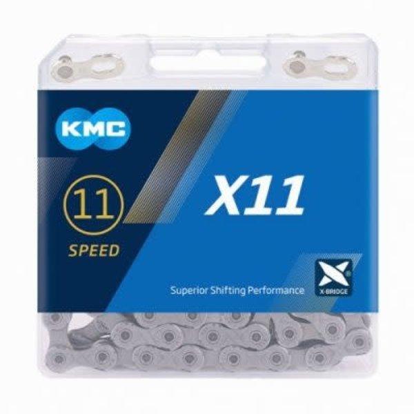 KMC Chaine X11 grey/grise 11 vitesses 118 links