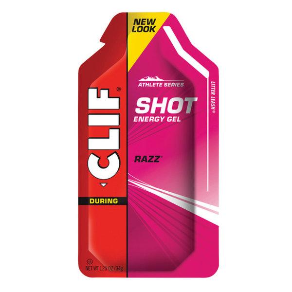 Clif, Shot, Gels energetiques, Framboises