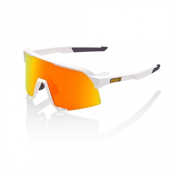 100 Percent 100% S3 - Soft Tact White - HiPER Red Multilayer Mirror Lens