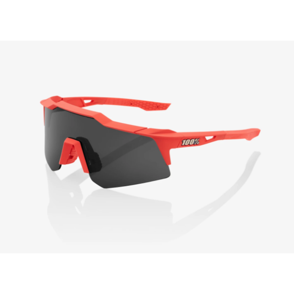 100% 100% Speedcraft XS - Soft Tact Coral - Smoke Lens